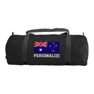 名前入りなオーストラリアの旗のduffleの体育館のバッグ ジムバッグ