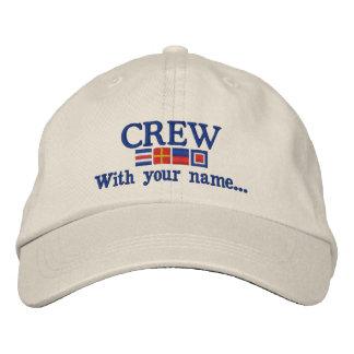名前入りなカスタムあなたの乗組員の航海のな旗 刺繍入りキャップ