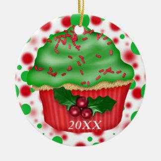 名前入りなカップケーキのオーナメント2012年 セラミックオーナメント