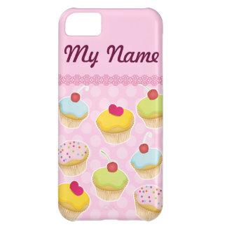 名前入りなカップケーキ iPhone5Cケース