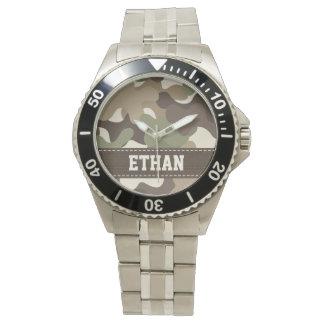 名前入りなカムフラージュ 腕時計
