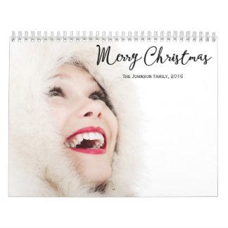 名前入りなカレンダーのクリスマス2016年 カレンダー
