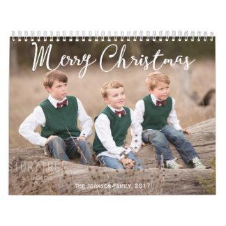 名前入りなカレンダーの2017年のクリスマスの挨拶 カレンダー