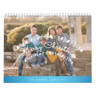 名前入りなカレンダー2017の青いメリークリスマス カレンダー