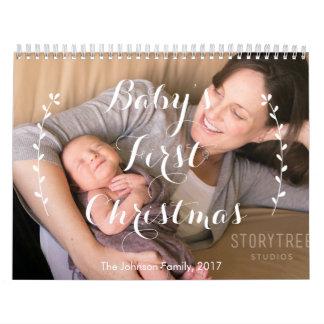 名前入りなカレンダー2017ベビーの初めてのクリスマス カレンダー