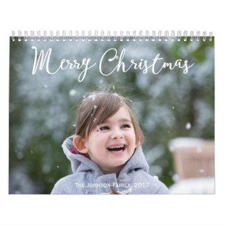 名前入りなカレンダー2017年の降雪のクリスマス カレンダー