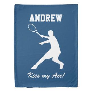 名前入りなキス私のエースの男の子のテニスの羽毛布団カバー 掛け布団カバー