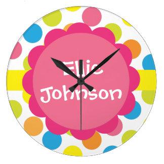 名前入りなキャンデーは柱時計に点を打ちます ラージ壁時計