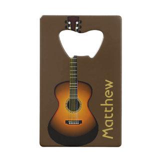 名前入りなギターのデザインの栓抜き ウォレット 栓抜き