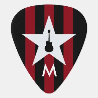 名前入りなギターのロックスター ギターピック