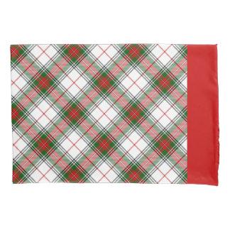名前入りなクリスマスの格子縞の~ 枕カバー