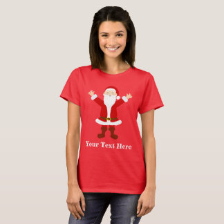 名前入りなクリスマスサンタ Tシャツ