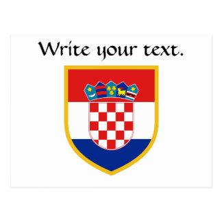 名前入りなクロアチアの旗 はがき
