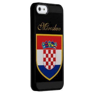 名前入りなクロアチアの旗 クリア iPhone SE/5/5sケース