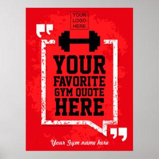 名前入りなグランジな体育館のライフスタイルの引用文はロゴを加えます ポスター