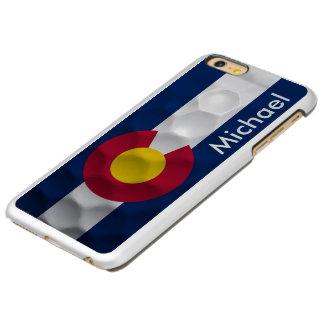 名前入りなコロラド州の旗のゴルフ・ボールパターン INCIPIO FEATHER SHINE iPhone 6 PLUSケース