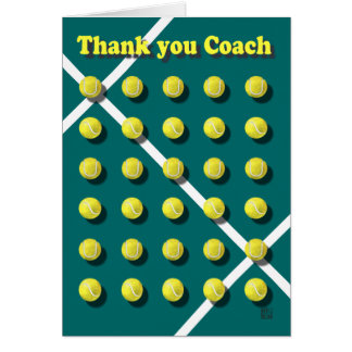 名前入りなコーチありがとう カード