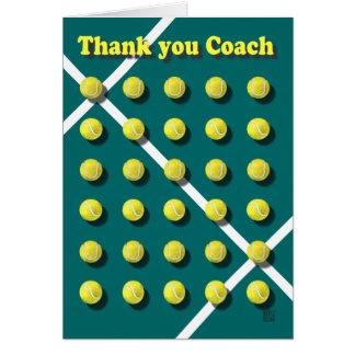 名前入りなコーチありがとう グリーティングカード