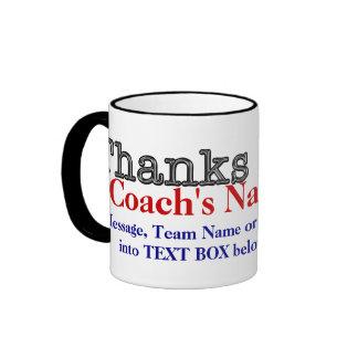 名前入りなコーチのギフトのコーチは一流メッセージを襲います リンガーマグカップ