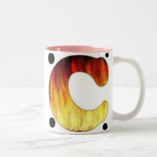 名前入りなコーヒー・マグの手紙C ツートーンマグカップ
