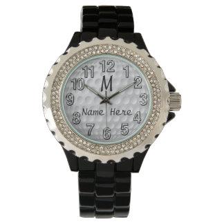 名前入りなゴルフ腕時計、多くのスタイルの女性、人 腕時計