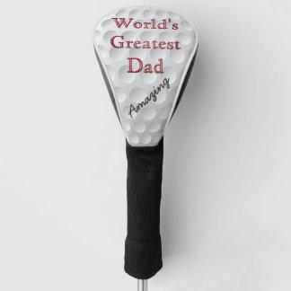 名前入りなゴルフ頭部は世界ですばらしいパパをカバーします ゴルフヘッドカバー