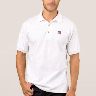 名前入りなゴルフ、プエルトリコの旗 ポロシャツ