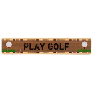 名前入りなゴルフ・ボールのカスタムの鍵の棚 くるみ 鍵掛け