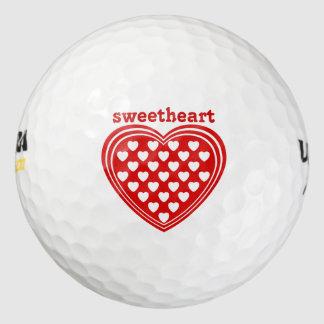 名前入りなゴルフ・ボールの恋人愛 ゴルフボール