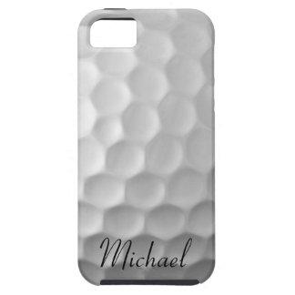 名前入りなゴルフ・ボールのiPhone 5sケースの白のゴルフ iPhone SE/5/5s ケース