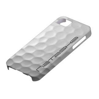 名前入りなゴルフ・ボールは質パターンに窪みを作ります iPhone SE/5/5s ケース