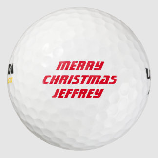 名前入りなゴルフ・ボール、メリークリスマス ゴルフボール