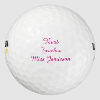 名前入りなゴルフ・ボール、最も最高のな先生 ゴルフボール
