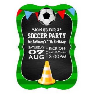 名前入りなサッカーまたはフットボールのパーティの黒板 12.7 X 17.8 インビテーションカード