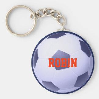 名前入りなサッカーフットボールKeychain キーホルダー