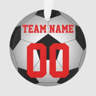 名前入りなサッカーボールのチーム名前 オーナメント