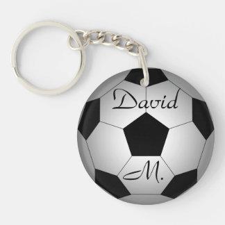 名前入りなサッカーボール キーホルダー