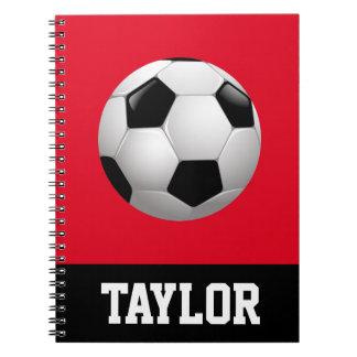 名前入りなサッカーボール ノートブック