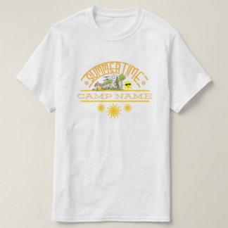 名前入りなサマーキャンプ Tシャツ