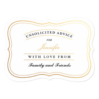 名前入りなシャワーのアドバイスは花嫁か新しいお母さんを梳きます カード