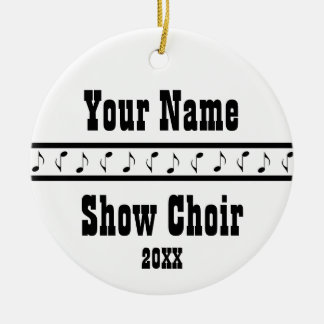 名前入りなショーの聖歌隊音楽オーナメントの記念品 セラミックオーナメント