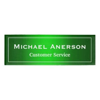 名前入りなシンプルで明白な緑のカッコいいの勾配 名札