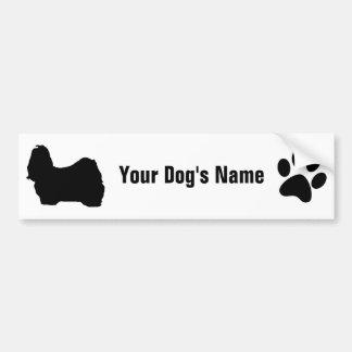名前入りなシーズー(犬)のTzuのシーの・のズー バンパーステッカー
