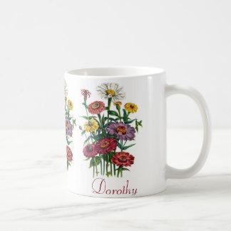 名前入りなジニア コーヒーマグカップ