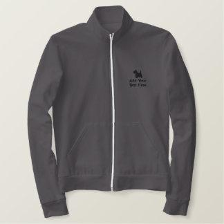 名前入りなスコットランドテリア犬のカスタム 刺繍入りジャケット