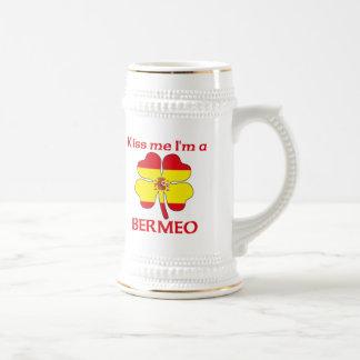 名前入りなスペイン語は私によってがベルメオである私に接吻します ビールジョッキ