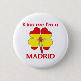 名前入りなスペイン語は私によってがマドリードである私に接吻します 5.7CM 丸型バッジ