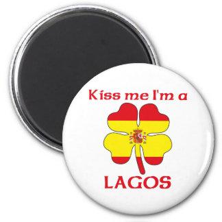 名前入りなスペイン語は私によってがラゴスである私に接吻します マグネット