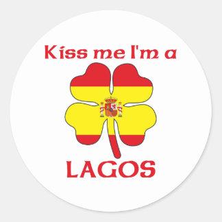 名前入りなスペイン語は私によってがラゴスである私に接吻します ラウンドシール