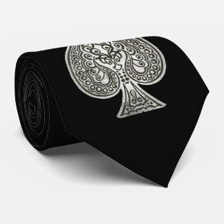 名前入りなスペードのレトロの芸術的なトランプのポーカーのエース ネクタイ